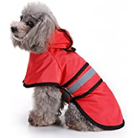 Togather Mascota Perro Impermeables Chubasqueros, Impermeable ropa ligera con capucha para perros Ropa impermeable para