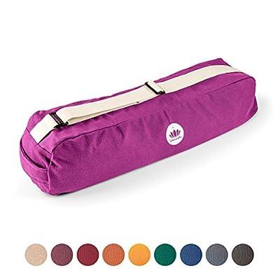 Lotuscrafts Yogatasche PUNE - fair und ökologisch aus Bio-Baumwolle - extra viel Platz für Yogamatten & Yoga-Zubehör
