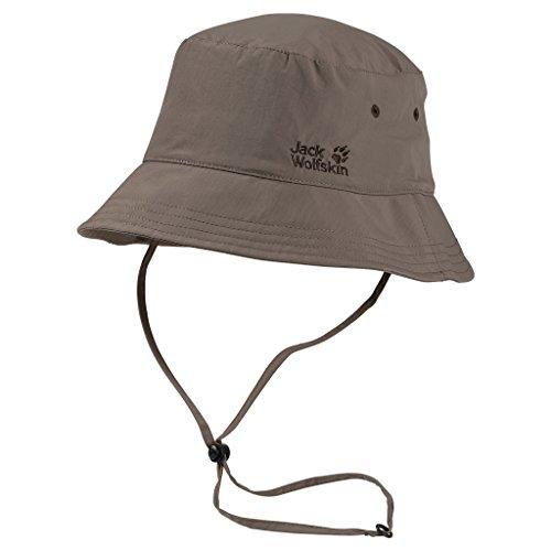 Jack Wolfskin Hut Supplex Sun Hat Siltstone, L (Hut Jack Wolfskin)