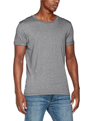 SELECTED HOMME Herren T-Shirt Shdtheperfect Melange SS O-Neck Tee NOOS Mehrfarbig (Dark Sapphire Stripes:Bright White)