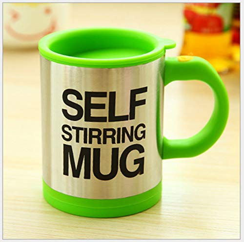 Eever design perfetto tazza da caffè miscelazione automatica tazza auto-mescolante tazza da tè (verde)