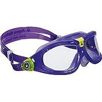 Aqua Sphere Seal 2 Kinder Taucherbrille / Schwimmbrille, durchsichtige Gläser (One Size) (Violett)