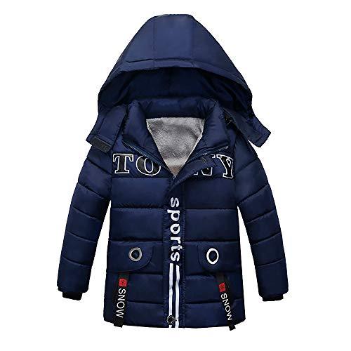 BaZhaHei Mode Kinder Mantel Jungen Mädchen Dicker Mantel Gepolsterte Winterjacke Kleidung Baumwollkleidung Brief Drucken Verdicken Plüsch Mit Kapuze ()