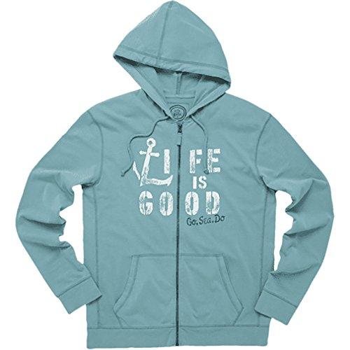 Life is Good Herren 's Go Sea Do Jersey Hoodie türkis / blau