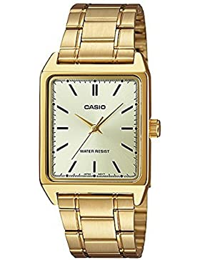 CASIO Herren-Armbanduhr Analog Quarz Edelstahl MTP-V007G-9