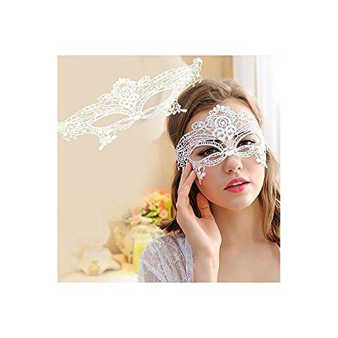 AMDXD Schmuck Damen Maske Spitze Halloween Kostüm Sex Augen Halloween Maske Weiß Party Queen