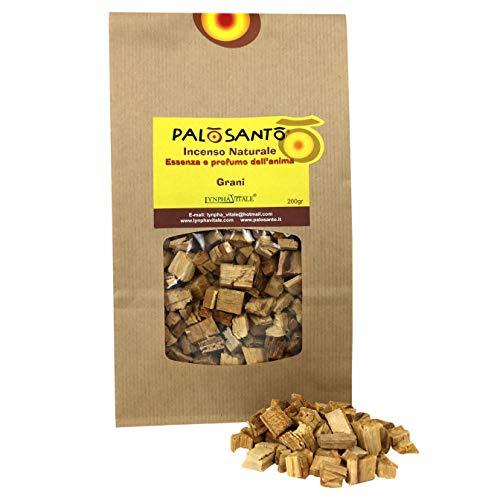 Palo Santo en Granos - Variedad Amarillo - 200 Gr - Incienso Natural chamánico Original para Quemar - Rituales, purificación, Aroma de Buen Humor, energía Positiva