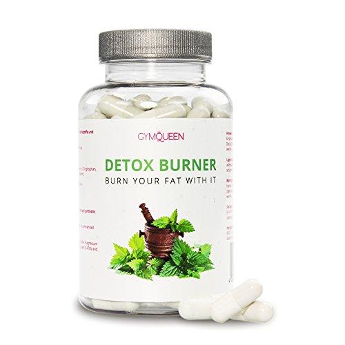 45 Tage Detox Stoffwechsel Kur mit Brennesselpulver & Grüntee Extrakt | Pflanzliche Diätpillen als Alternative zu Fatburner Tabletten | Natürlich Abnehmen mit Gym Queen - 90 Kapseln