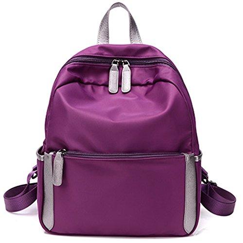 CLOTHES-_ Borsa coreana del sacchetto di spalla del sacchetto di spalla di viaggio di svago e di scuola elementare degli uomini della scuola materna e femminile di Ultra-Light impermeabile dello zaino Viola