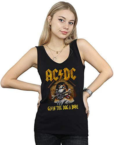 AC/DC Damen Give The Dog A Bone Muskelshirt Schwarz Small -
