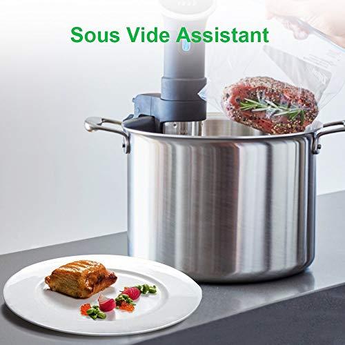 [Aktualisiert] Vakuumierer, Crenova VS100S – Vakuumiergerät für Nahrungsmittel, manuelle Pausenfunktion für brüchige Lebensmittel, +10 gratis Profi-Folienbeutel - 5