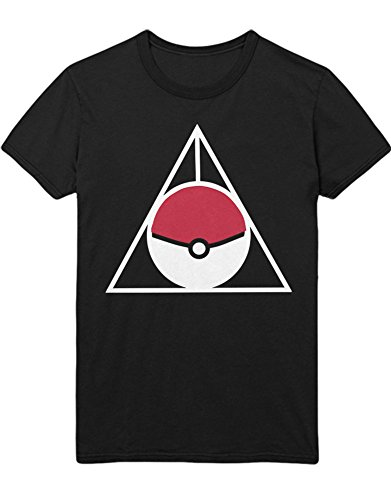 T-Shirt Poke Go Trainer Triforce Heiligtümer Harry Kanto Official Gym Leader X Y Blue Red Yellow Plus Hype Nerd Game C123138 Schwarz M