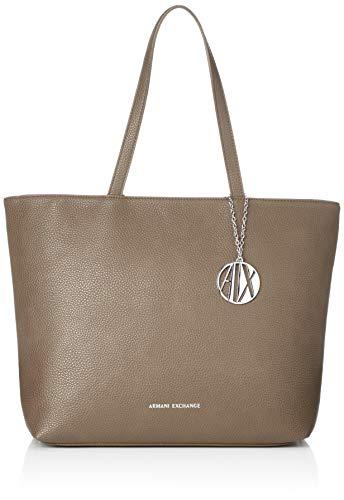 Armani Exchange Damen Womans Shopping Tote, Braun (Taupe) 30x10x42 cm