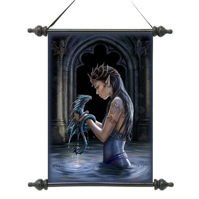 Design Toscano CL75135 Gothic Water Dragon Canvas Wall Scroll Tapestry