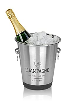 Stainless Steel French Design Champagne Wine Beverage Ice Bucket 1