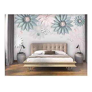 Mural Papel Tapiz Floral Paredes Moderno Simple Flor Estéreo Mariposa Sala De Estar Dormitorio Fondo Decoración De Pared Papel Pintado W260Xh180Cm