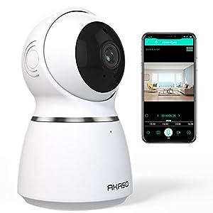 AKASO 1080P WiFi Telecamera Sicurezza Sorveglianza, Tracciamento Automatico del Movimento,Navigazione Panoramica,Visione… 419h30VvAAL. SS300