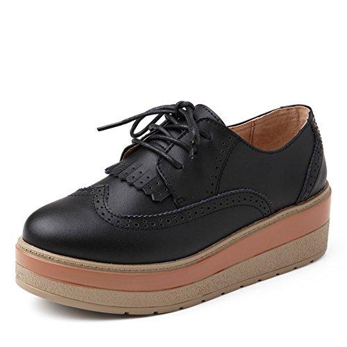 Primavera Vento Scarpe Con La Suola Spessa Piattaforma Inghilterra,Calzature Donna,Vera Pelle Nappe Scarpe,Womens Casual Scarpe B