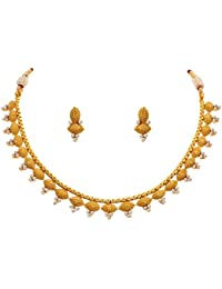 [Sponsored]BFC- Buy For Change Traditional Ethnic One Gram Gold Plated Pearl Designer Necklace Set With Earrings For Women...