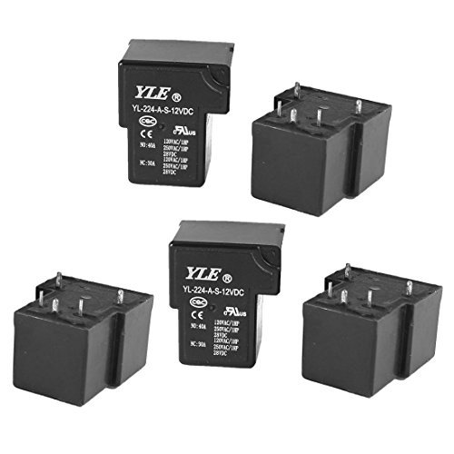 224-AS Coil DC 12V 5 Pin Terminals SPDT PCB Power Relay Schwarz 5pcs 12vdc Pcb Relay