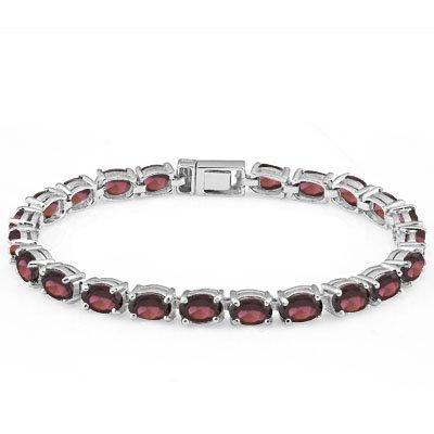 splendid-17-carat-23-pcs-garnet-925-sterling-silver-tennis-bracelet-size-seven-inches