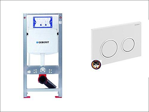 BURDA WAND-WC-ELEMENT BS+PLUS GEBERIT UP-SPK-SIGMA 20 weiss / hochglanz-verchromt