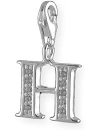 Melina Damen-Charm Anhänger Buchstabe H 925 Sterling Silber 1800924