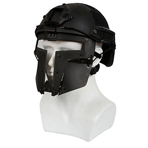 haoYK Casco de Deporte Multiusos con protección táctica para Airsoft Paintball MH...