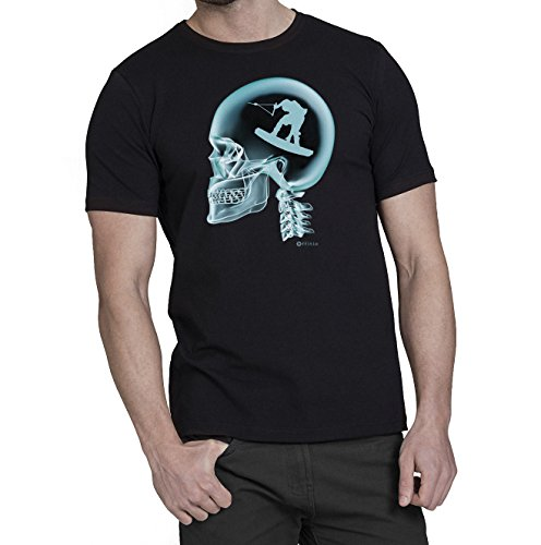 Kitesurfing Sur le Cerveau X-Ray Hommes kite surf T-Shirt