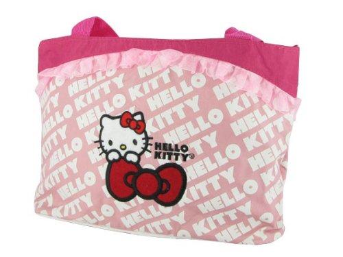 Alsino Hello Kitty Tasche Handtasche Shopping Bag mit Fahrradbefestigung groß (Fahrrad-handtasche)