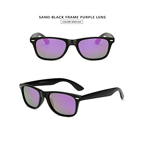 Sport-Sonnenbrillen, Vintage Sonnenbrillen, Sunglasses Männer Polarized Sunglasses Männer Driving Mirrors Coating Points Black Frame Eyewear Male Sun Glasses UV400 sand black purple