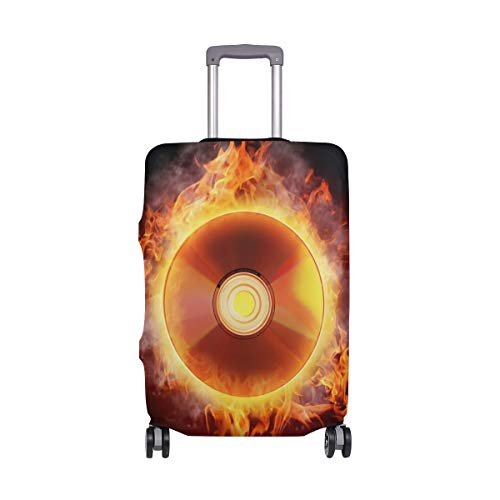 FOLPPLY Retro Planets With Rockets Luggage Cover Baggage Suitcase Travel Protector Fit for 18-32 Inch