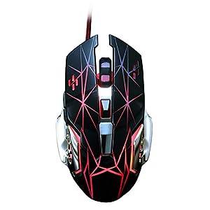 RHSMY 3200 DPI Verdrahtet Gaming-Maus 4-Farbiger LED-Atemlichteffekt 6 Programmierbare Tasten Ergonomisches Design Home-Game-Makro-Definition Maus