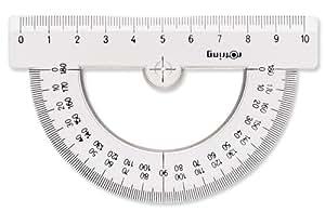 Rotring Centro Rapporteur Demi circulaire 180°/11 cm côté Transparent