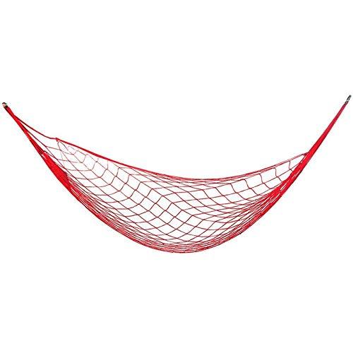 Zeng ling liang-Columpios Silla de suspensión portátil de Nylon Solo Hamaca de Malla de Nylon de Ocio al Aire Libre Ocio con 2 Metros de Cuerda Larga (Color : Red)