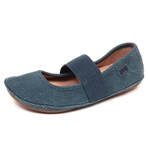 CAMPER E1300 (Without Box) Ballerina Bimba blu Petrolio Scarpe Shoe Girl [28] (Camper Baby Schuhe)