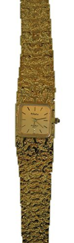 Dufonte By Lucien Piccard Women's Vintage Gold Plated Nugget Square Watch