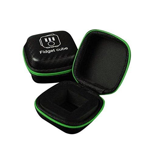 Tefamore Für Fidget Cube Stress Relief Schwerpunkt Spielzeug Schutzhülle Case , Fidget Cube Anxiety Stress Relief Focus Dice Bag Box Carry Case Packet B (Cube Carry Case)
