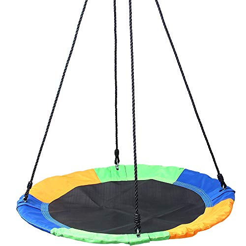 Outdoor Sling Rope Swing Casual Sling Rope Set Children ' S Rotating Balance Wheel is Firm and Tight and Easy to Adjust So That The Baby Has A Happy Swing Childhood
