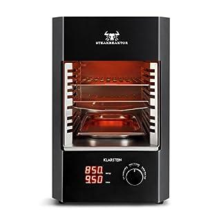 Klarstein Steakreaktor 2.0 • Hochleistungsgrill • Elektrogrill • Hochtemperatur-Grill • 850°C • Keramik-Heizelemente • Abschaltautomatik • Herausnehmbarer Grilleinsatz • schwarz