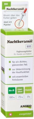 Anibio Nachtkerzenöl 50 ml Ergänzungsfutter für Hunde und Katzen, 1er Pack (1 x 0.05 l)