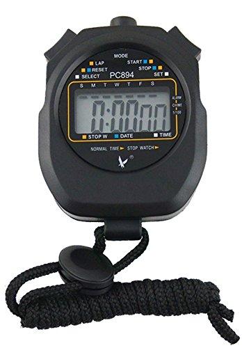Leap Digital Professional Handheld LCD chronographe Sports Chronomètre, One-row 2souvenirs Lap Counter cours Minuteur.