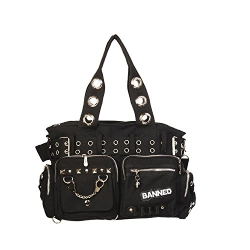 Banned Alternative Wear , Sac à main pour femme Noir Noir Einheitsgröße