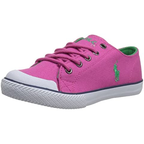 Polo Ralph Lauren Zapatillas Deportivas de Lona para mujer Pink/White/Green