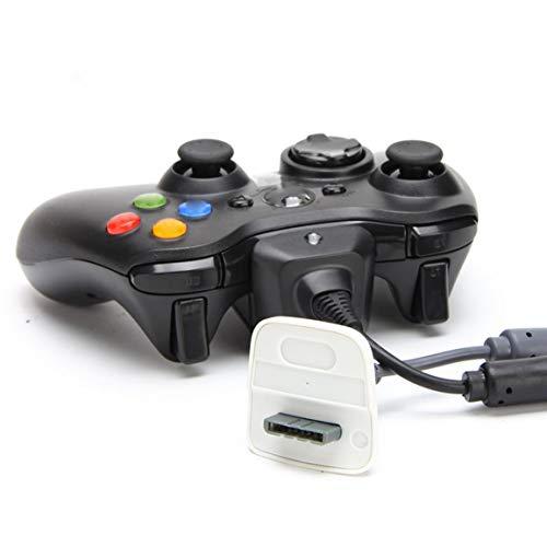 Garciadia USB-Ladegerät zum Spielen und Laden des Kabels für den Xbox 360 Wireless Controller (Farbe: schwarz) XBOX360 (Xbox 360-kabel-ladegerät)