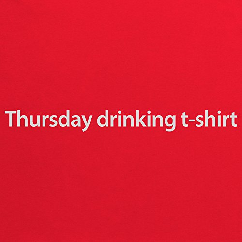 Thursday Drinking T-Shirt, Damen Rot