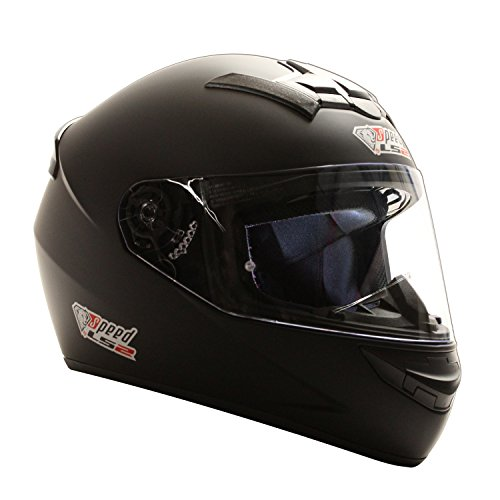 Speed Racewear LS2 Rookie Integralhelm Schwarz, Matt - Sonderedition Kart & Motorradhelm (XXS (51-52cm))