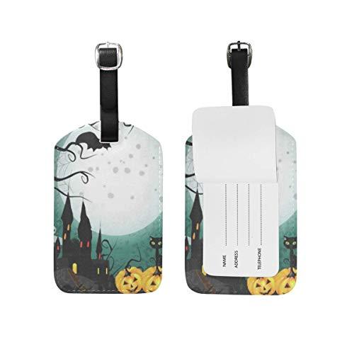 Luggage Tags Halloween Pumpkin Cute Travel ID Identifier for People 1 Pack (Cruise 2019 Halloween)