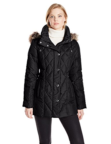 london-fog-womens-down-coat-with-diamond-quilt-black-medium