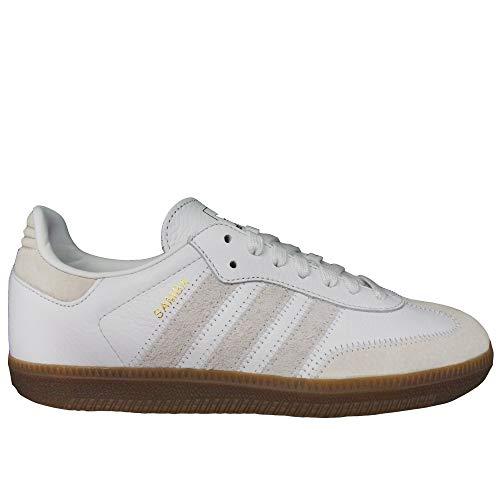 adidas Herren Samba Og Ft Gymnastikschuhe, Weiß Crystal Raw White/Gold Met, 43 1/3 EU